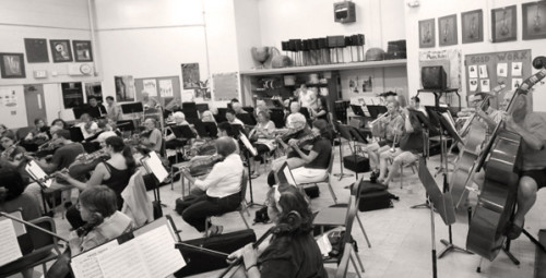 PCO Orchestra Rehearsing, 2013