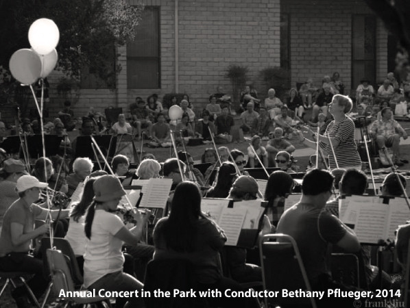 Annual Concert in the Park with Conductor Bethany Pflueger, 2014