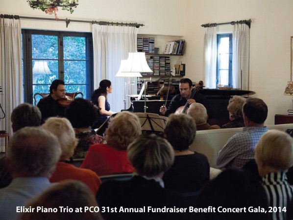 Elixir Piano Trio at PCO 31st Annual Fundraiser Benefit Concert Gala, 2014