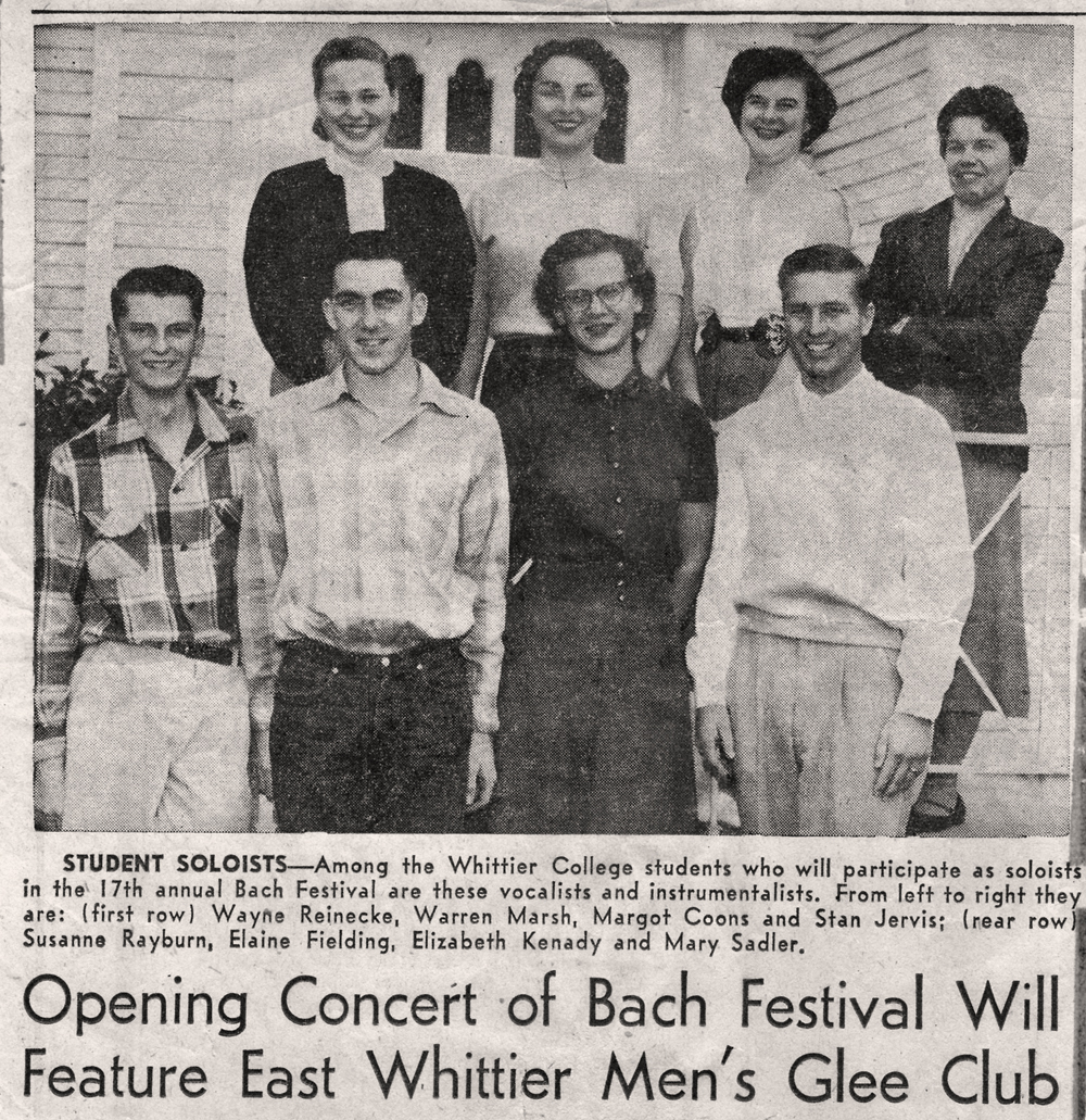Founder Wayne Reneicke at the 17th Annual Bach Festival