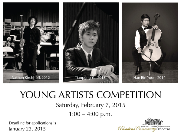 2015 Young Artist Competition Banner