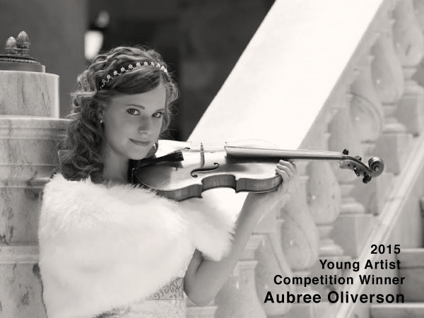 2015 Young Artist Competition Winner, Aubree Oliverson!