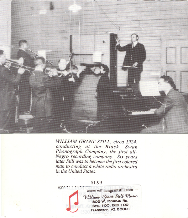 William Grant Still, circa 1924, conducting at the Black Swan Phonograph Company